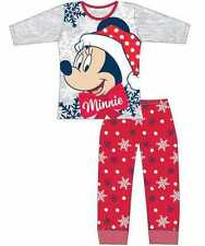 Girls Childrens Official Disney Minnie Mouse Christmas Xmas Character Pyjama Set