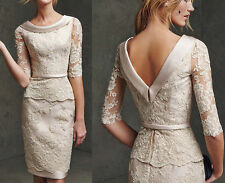 Short Lace Mother of the Bride/Groom Dress Women Formal Occasion Outfit/Suit New