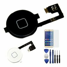 Home Menu Button Flex Cable Key Cap Assembly + Free Tools For iPhone 4 4G 4S
