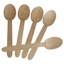 Oh Banana Wooden Spoons - Disposable Wood Cutlery Silverware (50). Free Delivery
