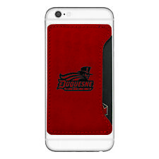 Duquesne University-Cell Phone Card Holder-Red