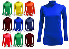 POLO NECK TOP STRETCH LADIES ROLL NECK LONG SLEEVE TURTLE NECK TOP JUMPER polonk