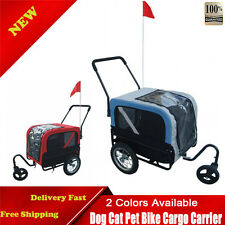 Dog Cat Pet Bike Trailer Bicycle Pet Travel Cycle Cargo Carrier With Jogger NEW