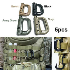 5Pcs Tactical Grimloc Safety Safe Buckle MOLLE Locking D-ring Carabiner Hook New