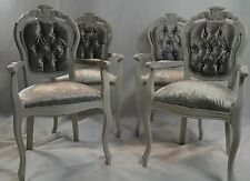 Shabby Chic Rococo French Louis Carver Chair Dining Bedroom Velvet MADE TO ORDER