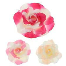 Rose Flower Hairpin Silk Flocking Hair Clip DIY Wreath Hair Accessory for Women