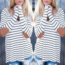 Fashion Womens Loose Casual Long Sleeve T-Shirt Cotton Blouse Tops T-Shirt