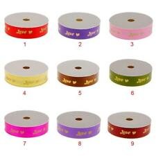 50 Yards LOVE Print Ribbon Wedding Party Decoration Gift Packing Craft 9 Colors