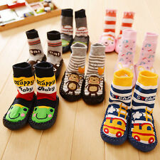 Baby Kids Toddler Girl Boy Anti-slip Shoes Boots Slipper Socks 0-24 Months CHI