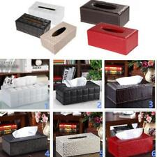 PU Leather Tissue Box Toilet Paper Holder Home Office Bedroom Decoration 6 Color