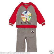 baby boys fleece CONVERSE TRACKSUIT Top & Trousers 3/6M (70cm) blue or grey BNWT