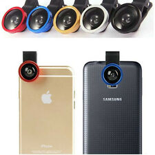 3in1 Fisheye Camera Angle Widener Macro Lens Clip for iPhone Samsung Sony IPAD