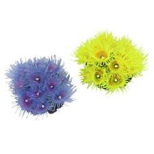 Artificial Sea Anemone Coral Plant Aquatic Aquarium Fish Tank Ornament Decors
