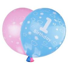 100pcs Cute Latex Balloons Baby Girl Boy 1st Birthday Party Decoration-Blue/Pink