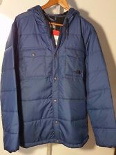 THE NORTH FACE MENS MEEKS JACKET TRUE NAVY FLEECE LINED BUTTON NWT