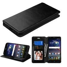 For HTC Desire 526 / L100 PHONE BLACK CARD WALLET LEATHER ACCESSORY COVER CASE