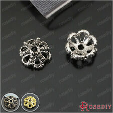 50PCS 10MM Zinc Alloy Beads Caps Jewelry Findings Accessories 23573