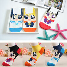 Hot Korean Womens Retro Vintage Cute Cartoon Girls Cotton Ankle Low Cut Socks