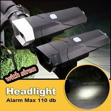Strong LED Bike Bicycle Front Head Light Lamp Horn Bell Outdoor Cycling Riding