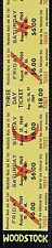 Planet Waves Guitar Strap WOODSTOCK TIX Leather Hippie 60s