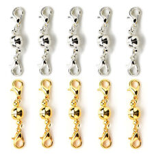 5 x Gold Silver Ball Tone Magnetic Lobster Clasps for Jewelry Necklace