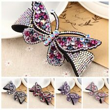 1Pc Women's Hot Crystal Butterfly Hair Barrette Clip Hairpin Hair Accessories