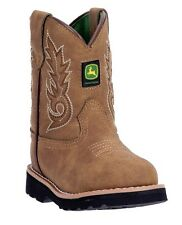 Brand New John Deere JD1031 Baby's Tan Round Toe Pull-On Wellington Boots