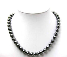 SALE Beautiful 8MM Black Round High Quality Hematite 18'' Necklace-nec2307