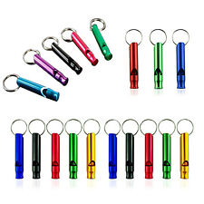 3x Ultra Loud Aluminum Emergency Survival Distress Whistle For Camping Hiking SP