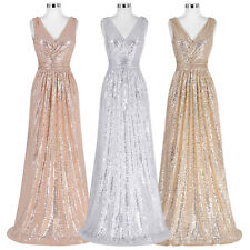New Sequins Long Prom Dress Evening Carpet Cocktail Wedding Bridesmaid Prom Gown
