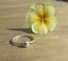 Handmade Sterling Silver 1.5mm pebble stacking ring