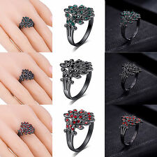 2016 Fashion Crystal Colorful Rhinestone Peacock Feather Woman Ring New