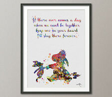 Eeyore and Piglet Quote Winnie the Pooh inspired Watercolor Art Print Poster Art