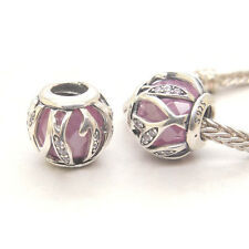 Authentic S925 Sterling Silver Nature's Radiance, Pink & Clear CZ CHARM BEAD