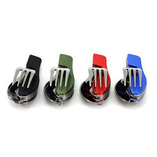 Folding Stainless Pocket Spoon Fork 3 in1 Utensils Tools Set Outdoor Camping