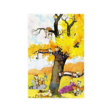Home Decor High Quality Calvin and Hobbes Picachu Wall Art Poster Paper Print