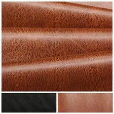 RECYCLED TEXTURED GRAIN ECO GENUINE REAL LEATHER HIDE OFFCUTS UPHOLSTERY FABRIC