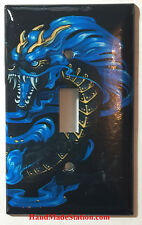Chinese Blue Dragon Art Light Switch Power Outlet Duplex Cover Plate Home Decor
