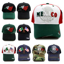 Mexican Hecho En Mexico Eagle Aguila USA Flag Embroided Baseball Cap Hat New