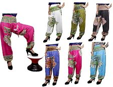 Rayon Baggy Genie Boho Hippie Gypsy Yoga UK Harem Pants