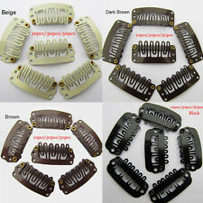New U-Shaped Hair Extension Clip-on Wig Weft Snap Metal Pins Comb Clips 30/50pcs