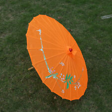 PARASOL UMBRELLA Chinese Japanese Bamboo Floral Fabric Bamboo Umbrellas