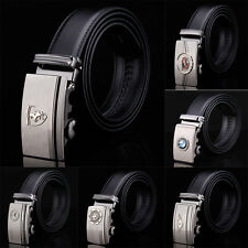 Fashion Casual Luxury Mens Belt Genuine Leather Automatic Buckle Waistband Strap