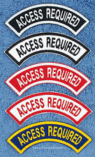 ACCESS REQUIRED REVERSE ROCKER PATCH RR service dog Danny & LuAnns Embroidery