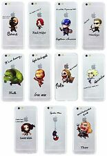 "Case/Cover Apple iPhone 6 6s (4.7"") + Screen Protector / Silicone Comic Heroes"