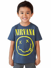 Toddler Baby Boys Nirvana T-Shirt - Short Sleeve Blue
