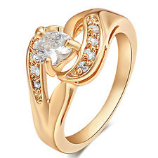 Heart Clear Small CZ Cute Rings Size6 7 8 9 Elegant Engagement Girls