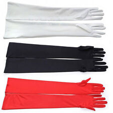Fashion Long Elegant Satin Opera Wedding Bridal Evening Party Prom Costume Glove