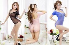 Plus Size Lingerie Ultra Soft Unique Teddy Bodystocking Crotchless Open Crotch
