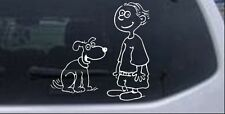 Child With Dog Stick Family Decal Car Truck Window Laptop Decal Sticker 6X6.0
